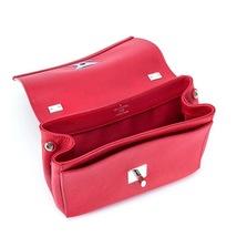 100% Authentic Louis Vuitton Red Rubis Lockme II BB Bag Receipt Mint image 5