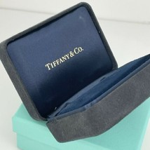 Tiffany & Co Black Suede Leather Earring Presentation Box and Blue Box - $175.00
