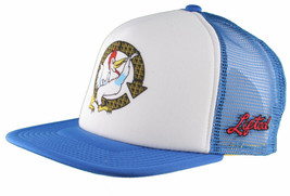 LRG Lifted House of Research Smoking Rooster Blue White Baseball Snapback Hat image 2