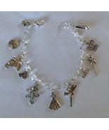Cinderella Theme Charms SP Chain Link Adjustable Bracelet Handmade + Gif... - $15.99