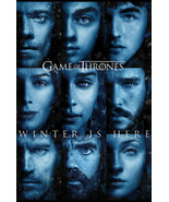 """Game of Thrones Season 7 Winter Is Here Faces TV Show Poster 24"""" x 36"""" F... - $19.88"""
