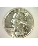 1945 WASHINGTON QUARTER CHOICE ABOUT UNCIRCULATED CH. AU NICE ORIGINAL COIN - $10.50