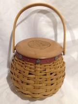 Longaberger Tournament of Roses Basket Combo w/ Protector, Paprika Liner... - $29.39