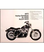 1973 Harley-Davidson ORIGINAL Sportster XL XLCH-1000 Brochure Motorcycles - $14.30