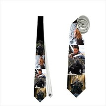 necktie tie black panther villain neck tie cosplay wedding grooms prom