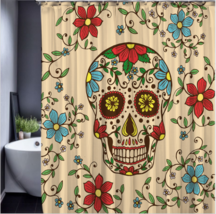 Skull Happy Halloween 145 Shower Curtain Waterproof Polyester Fabric For Bathroo image 1