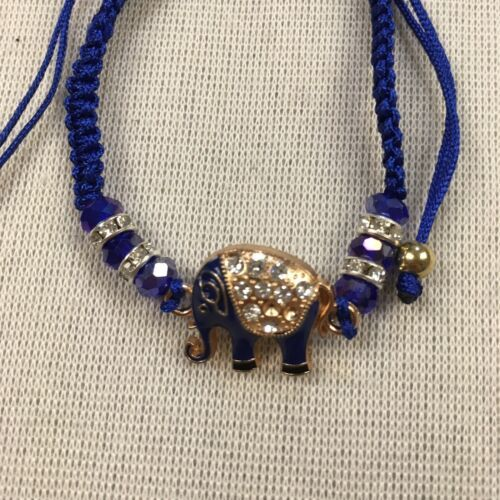 Lucky Elephant Charm Bracelets Weaved Beaded Good Karma Spirituality
