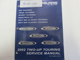 2002 Polaris Two Up Touring Indy Sport Trail Service Repair Manual Used OEM *** - $84.14