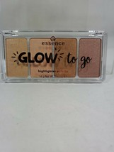 Essence Glow To Go Highlighter Face Contour 4 Colors Palette 10 Sunkissed New! - $13.09