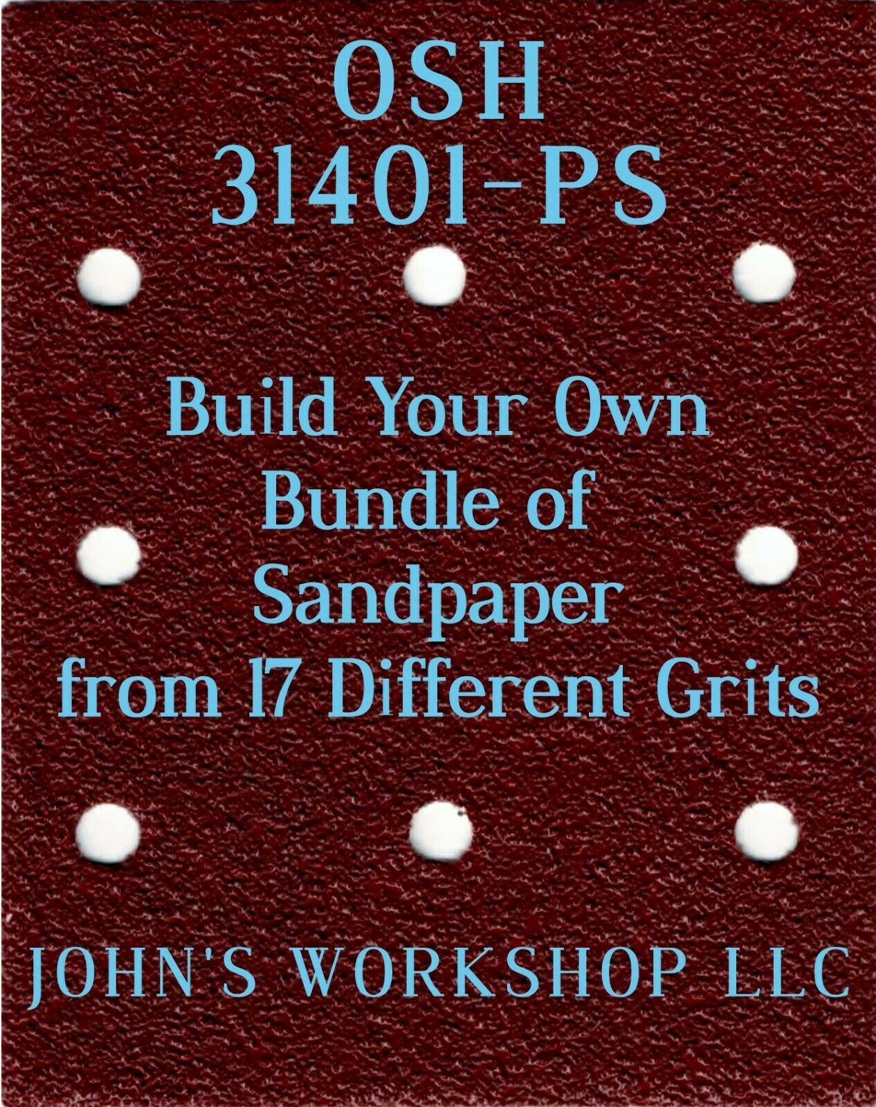 Primary image for Build Your Own Bundle OSH 31401-PS 1/4 Sheet No-Slip Sandpaper 17 Grits
