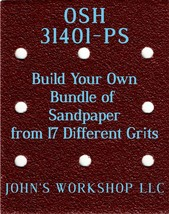 Build Your Own Bundle OSH 31401-PS 1/4 Sheet No-Slip Sandpaper 17 Grits - $0.99