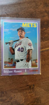 2019 TOPPS HERITAGE HIGH HOT BOX CHROME PURPLE REFRACTOR WILSON RAMOS ME... - $7.99