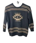 Polo Ralph Lauren Hand Knit Black/Gold Sweater 2XTTG 100% Wool Pullover ... - $64.34