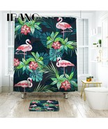 IBANO Tropical Flamingo Pattern Shower Curtain Waterproof Polyester Fabr... - $35.69