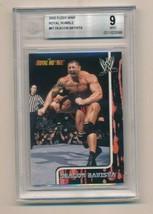 2002 Fleer WWE Royal Rumble #67 Deacon Batista RC Rookie BGS 9 - $150.00