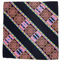 100% Silk Men's Pocket Square Handkerchief Fashion Pink Pretzel Designer... - $17.95