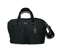 Coach Tech Briefcase Unisex Black Polished Canvas Crossbody or Tote - $175.99