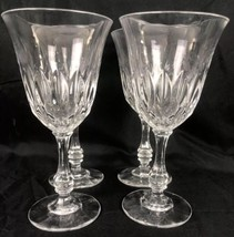 """Beautiful Vintage Crystal Water Goblets Set of Four 7 1/2"""" Tall - $24.74"""