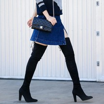 $798 Stuart Weitzman HIGHLAND Over the Knee Suede Boots Thigh High Booties 9 - $399.00