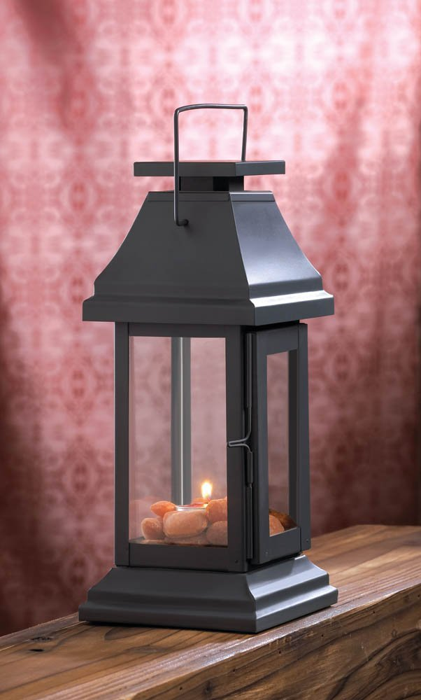 Metal Candle Lanterns, Rustic Large Candle Holder Lantern Outdoor Decor image 2
