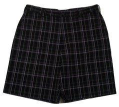 "IZOD Plaid Flat Front Golf Shorts Men's W36 Inseam 9"" 100% Polyester - $20.78"