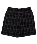 "IZOD Plaid Flat Front Golf Shorts Men's W36 Inseam 9"" 100% Polyester - $20.78"