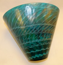 Murano Glass Tall Emerald Bowl - $315.00