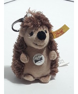 Vintage Steiff Original Hedgehog Mini Mohair Keychain #112126 - $6.98
