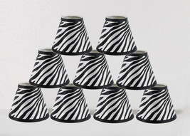 "Urbanest Mini Chandelier Lamp Shades 6-inch,Hardback,3""x6""x5"",Zebra,Set of 9 - $43.55"