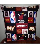 Miami Heat Pillow Miami Pillow NBA Handmade in USA - $11.96