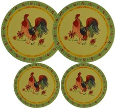 Set 4, Round Stove Top Burner Covers - Rooster Design. #82-574 - $13.47