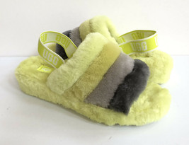UGG FLUFF YEAH SLIDE SULFUR MULTI SLIP ON SANDAL US 8 / EU 39 / UK 6 - $101.92