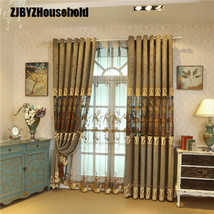 European Style Curtains Luxury Villas Shading Hollow Embroidery Curtains... - $44.22+