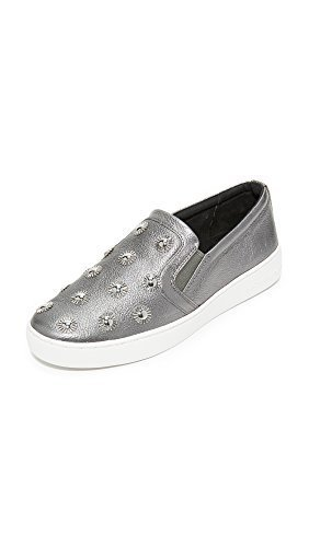 MICHAEL Michael Kors Women's Leo Starburst Slip On Sneakers, Gunmetal, 5 B(M) US