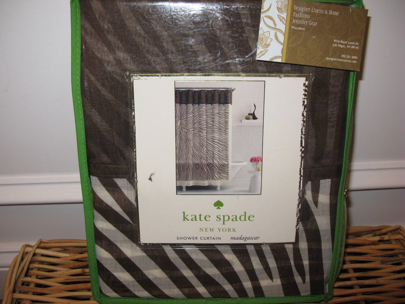 Kate Spade Madagascar Zebra Brown Fabric And Similar Items
