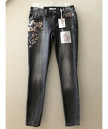 NWT Jessica Simpson Gray Kiss Me Super Skinny Stretch Sequins Jeans Size 26 - $48.51