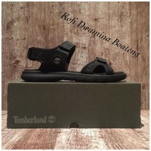 TIMBERLAND MEN'S GOVERNOR ISLAND STRAP BLACK SPORT A1QYZ SANDALS. Size:11 - $55.17