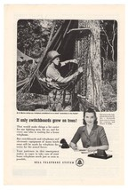 Marines Bell Telephone '40s Wartime WWII Soldier Advertisement Original ... - $9.74