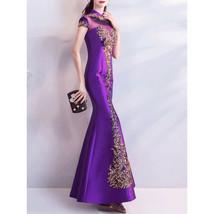 Women Small Collar Heavy Work Wedding Dress - $159.99