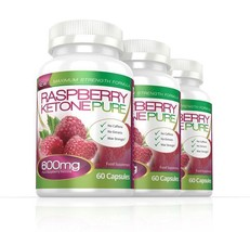Raspberry Ketone Pure Max Strength 600mg 180 Capsules (3 Months) - $77.99