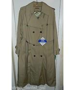 VTG NWT DOMINO 1970's Khaki 2 in 1 All Season Trench Rain Coat Size 13/14 - $74.25