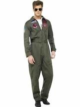 Top Gun Deluxe Maschile Costume, Top Gun Autorizzato Costume - $101.39