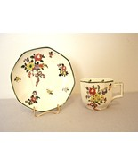 Royal Doulton OLD LEEDS SPRAYS D3548 Demitasse Cup & Saucer - Old Mark - $36.00