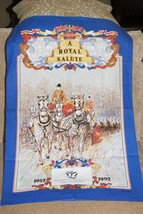 Her Majesty the Queens 40th Anniversary  1992 Cotten Kitchen Towel UNUSED - $7.25