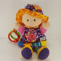 """Lamaze Soft Baby Doll Pink Purple Hanging Baby Toy Rattle Crinkle 11"""" Ta... - $12.86"""