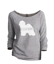 Thread Tank Old English Sheepdog Dog Silhouette Women's Slouchy 3/4 Sleeves Ragl - $24.99+