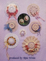 1985 Doilies To Crochet For Little Hats Pineapple Rita Weiss Mary Thomas... - $12.99