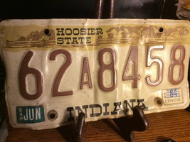 Vintage Indiana License Plate -  - Single Plate  1984 - $12.86