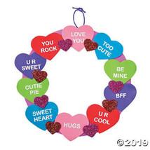 Conversation Heart Wreath Craft Kit, Set of 4 - $5.91