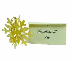 Danbury Mint 24k gold Christmas ornament vtg holiday figurine coa Snowfl... - $24.14